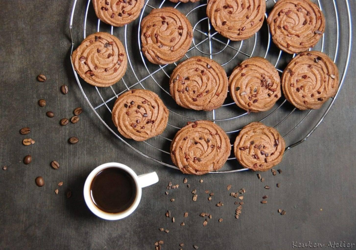 Chocolade Espresso koekjes, nóg lekkerder uit een oven met stoom